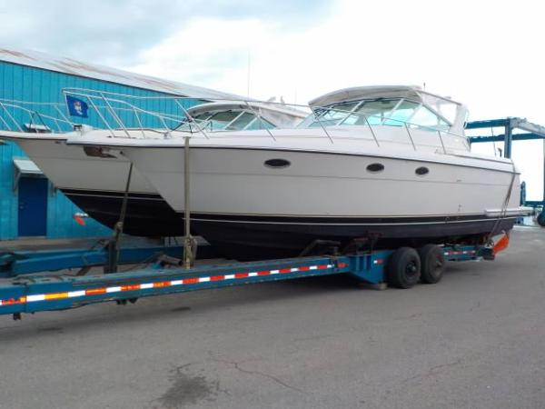 Tiara 3500 Express Full boat on trailer (not included)