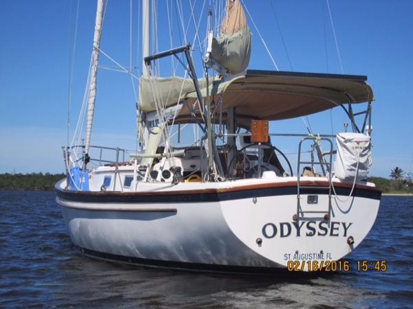 Pearson 365 Pearson At anchor