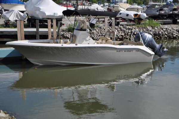 Key West 219 FS Port Side Docked