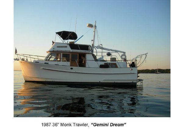 """Monk Trawler 36 1987 Monk Trawler 36 """"Gemini Dream"""""""