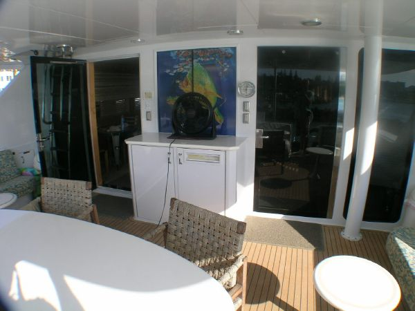Aft deck, looking forward
