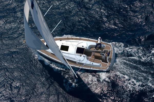 Bavaria 33 Cruiser Aerial View
