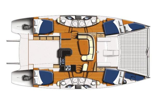 Leopard 46 Manufacturer Provided Image: 4 Cabin layout.