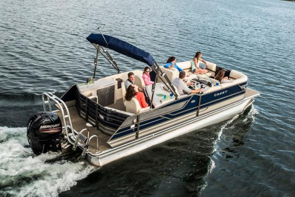 Crest Pontoon Boats Classic 250 Chateau Manufacturer Provided Image