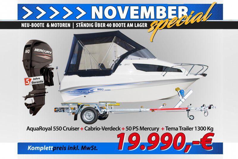 Aqua Royal 550 cruiser  50PS  Trailer