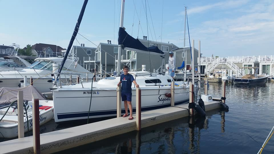 Hunter Legend 27 At dock 2