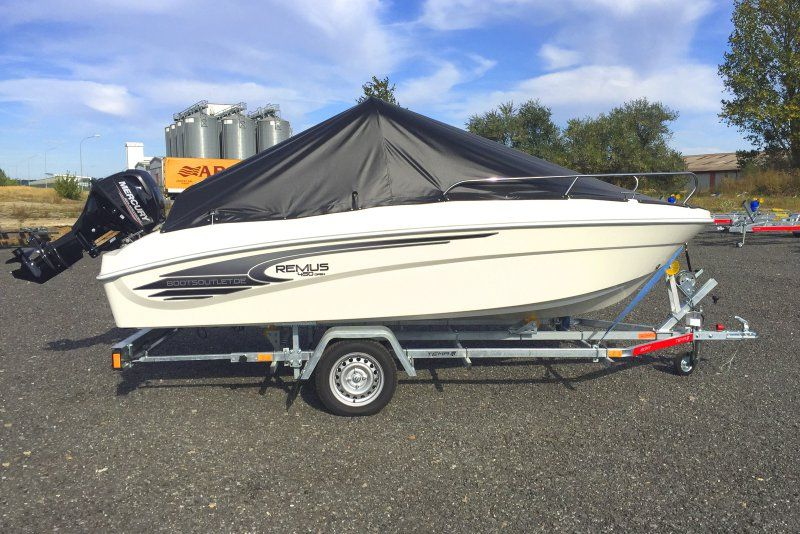 Remus 450 open 15PS Mercury Extras