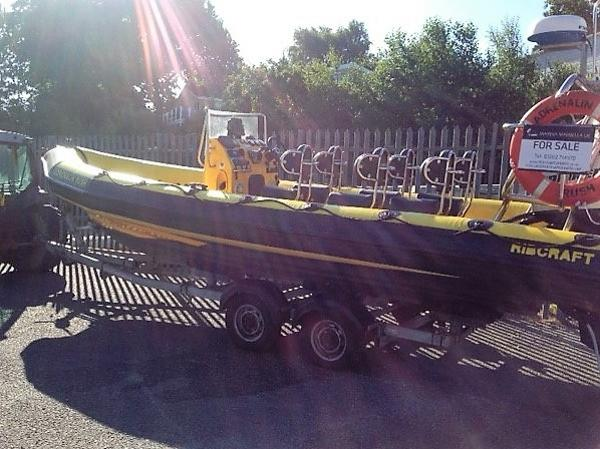 Ribcraft 7.8 Boat on trailer
