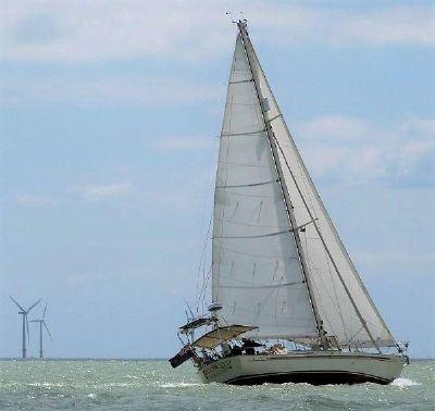 Passport 40 Offshore Yacht. Reaching in a stiff breeze