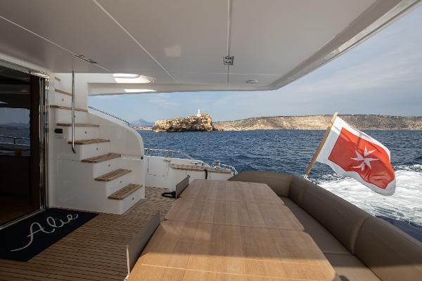 Princess 88 Motor Yacht - Aft Deck