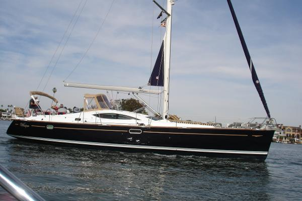 Jeanneau Sun Odyssey 49 DS Under way in Newport