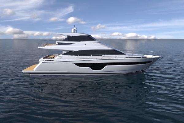 Johnson 70' Skylounge Motor Yacht JOHNSON 70 Skylounge Rendering