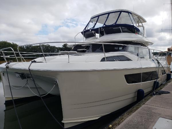 Aquila 44 Profile at Dock