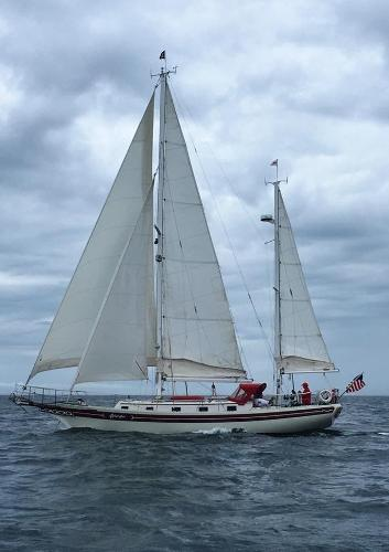 Bayfield 40 Ketch Profile port sailing
