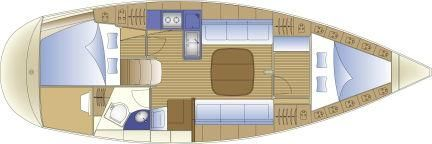 Manufacturer Provided Image: 2 Cabin Layout Plan