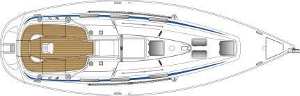 Manufacturer Provided Image: Bavaria 36 Deck Layout