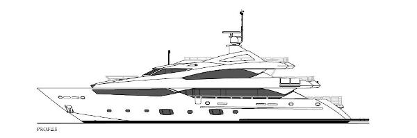 Sunseeker 40M Yacht Profile Plan