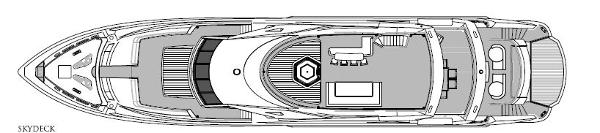 Sunseeker 40M Yacht Sky Deck Layout Plan