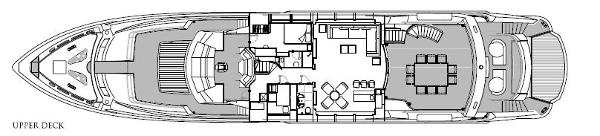 Sunseeker 40M Yacht Upper Deck Layout Plan