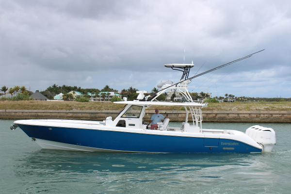 Everglades 435 Center Console Port Side