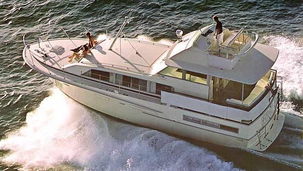 Bertram 46 Flybridge Motor Yacht Brochure Photo