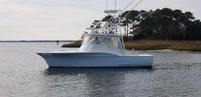 Custom Carolina 32 Ricky Gillikin Express Port Side Profile