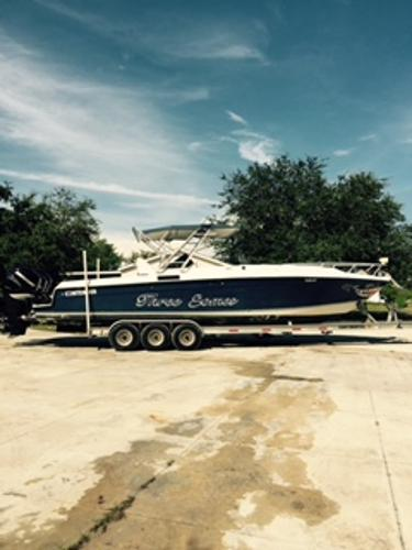 Contender 35 Side Console Starboard Side On Trailer