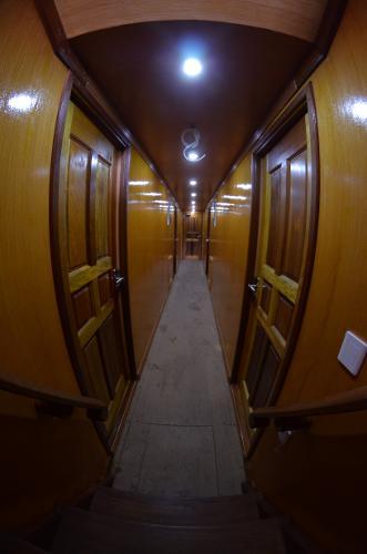 Custom 110 Companionway to Staterooms