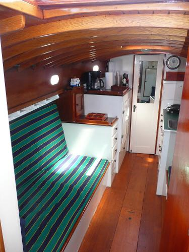 Main Salon with convertible bunks