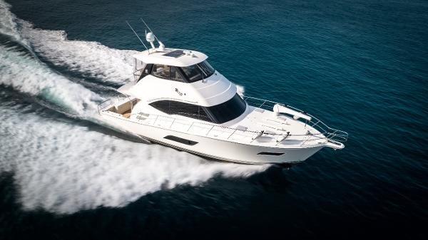 Riviera 50 Enclosed Bridge Starboard Running from Above