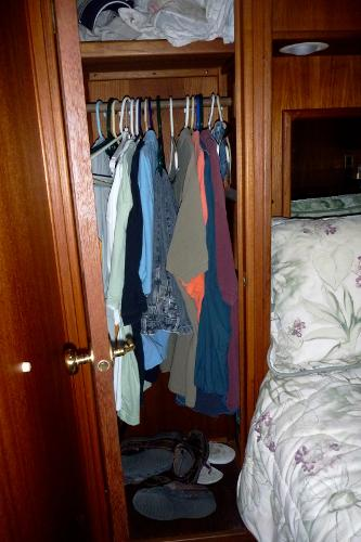 Master stateroom hanging locker