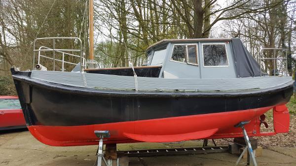 Custom Ex pilot launch 23 Ashore here, Suffolk.