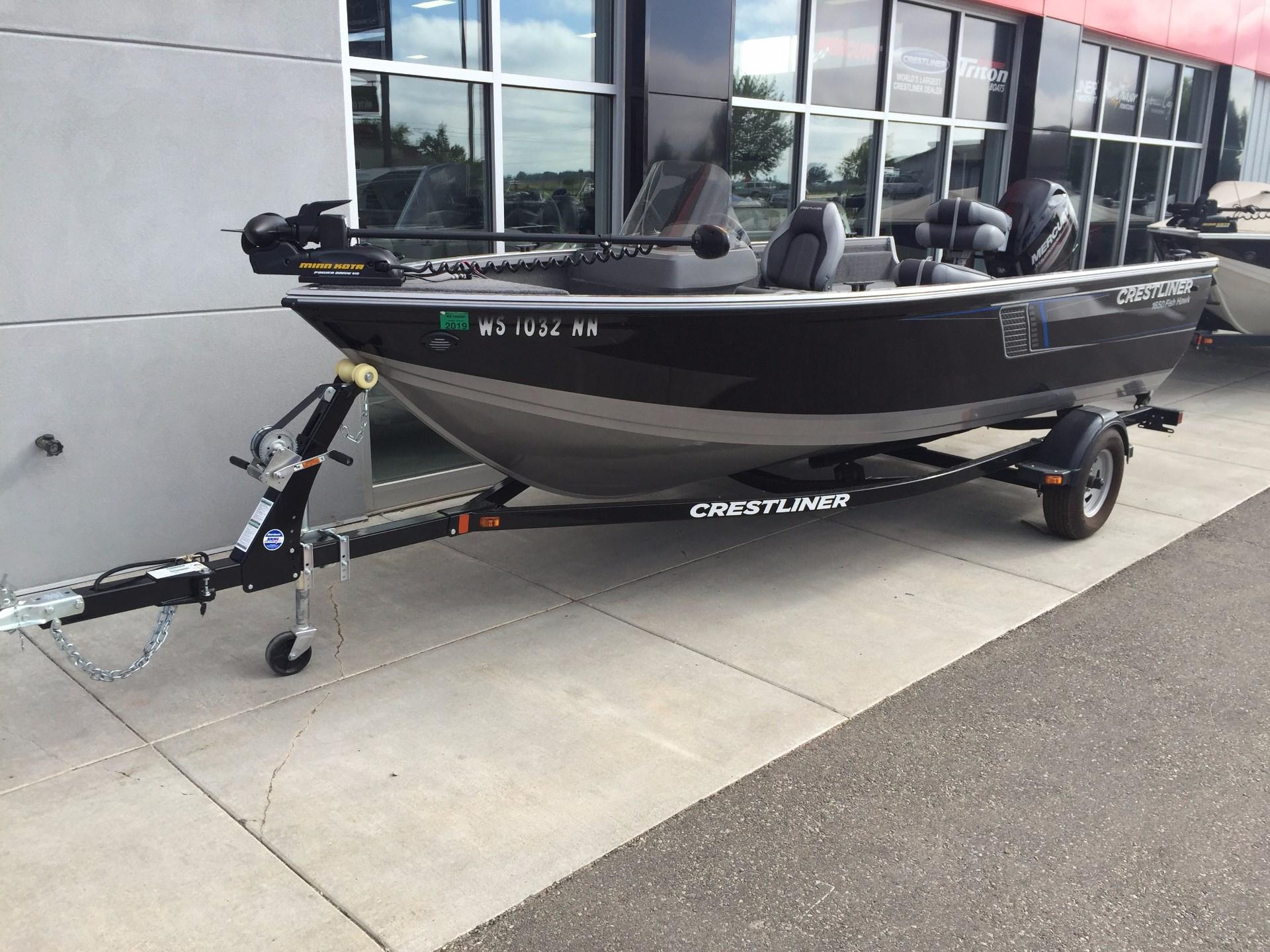 Used crestliner fish hawk 1650 boats for sale for Crestliner fish hawk