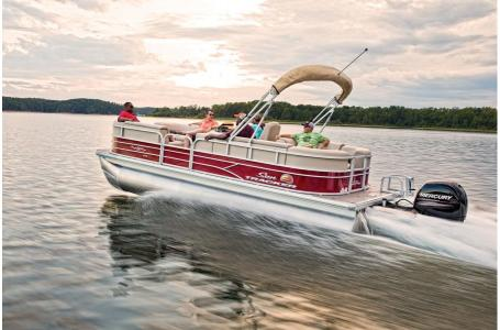 Sun Tracker Party Barge 22 XP3 w/150L 4S