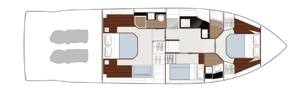 Sealine C490 Optional 3rd Cabin