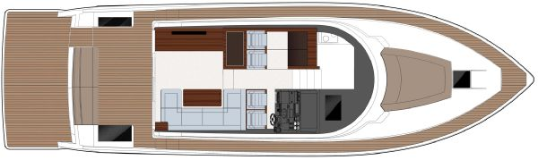 Sealine C490 Upper Deck with Forward Facing Seats