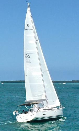 Jeanneau Sun Odyssey 409 Sea Forever...Full Sail in Biscayne Bay