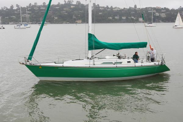 C&C  sloop Shamrock underway