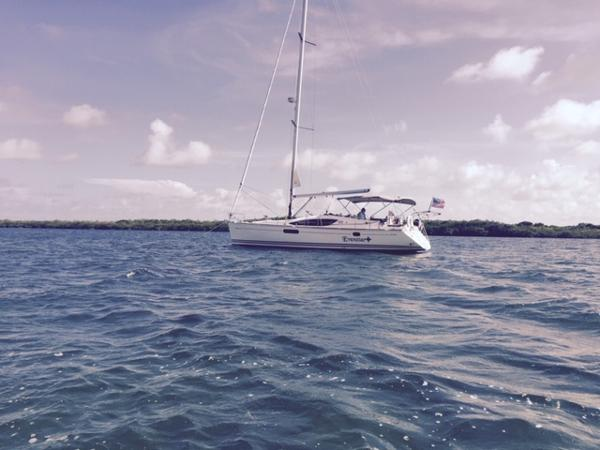 Jeanneau Sun Odyssey 45 DS At Anchor