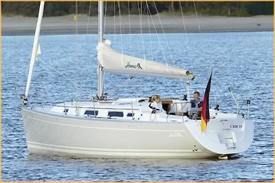 Hanse 342 at anchor, Brochure pic