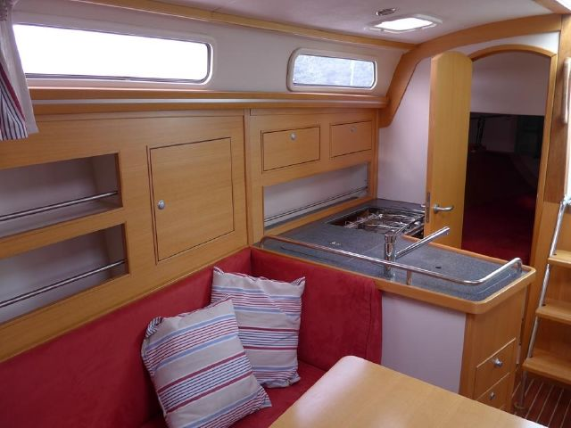Hanse 342 looking aft past galley