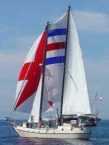 Bruce Roberts Custom Built Schooner '82 50' Bruce Roberts Custom Built Schooner under full sail
