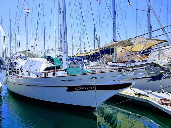 CT 41 Ketch Profile at Dock