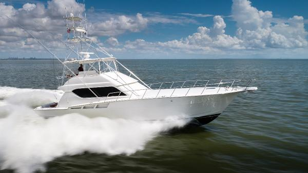 Hatteras 60 Convertible Profile Starboard