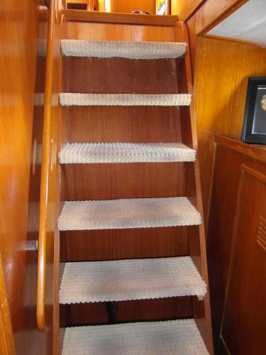 Steps from Master Stateroom to Saloon