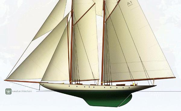 Herreshoff Two Masted Topsail Gaff Schooner Project