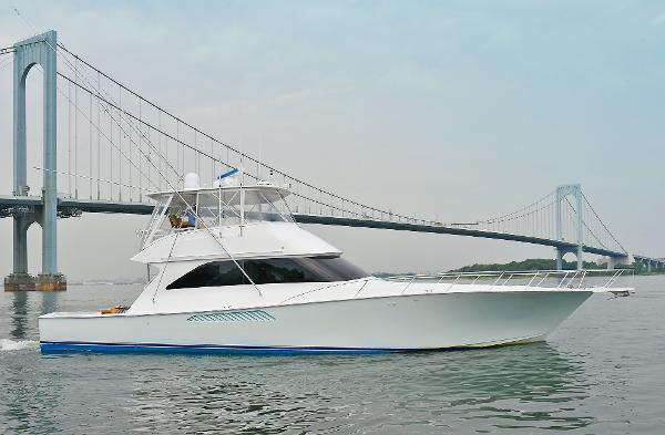 Viking 56 Convertible with Mezzanine Starboard Side
