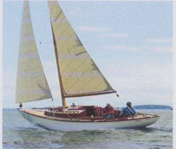 WOODEN SAILING SLOOP DAVID RYDER TURNER DESIGN