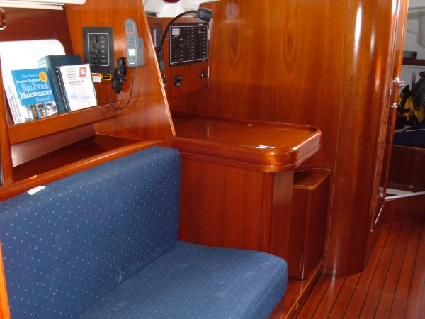 Looking aft starboard side salon