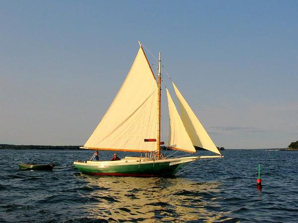 Jarvis Newman Friendship Sloop Under sail